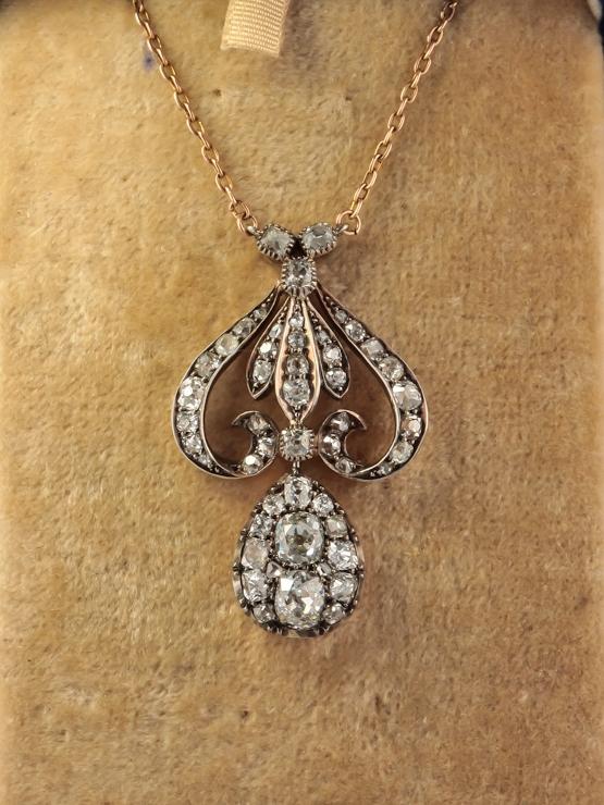 Vintage diamond pendant necklace images vintage diamond pendant necklace images edwardian 5 00 ct diamond lavish antique pendant necklace jpg mozeypictures Gallery