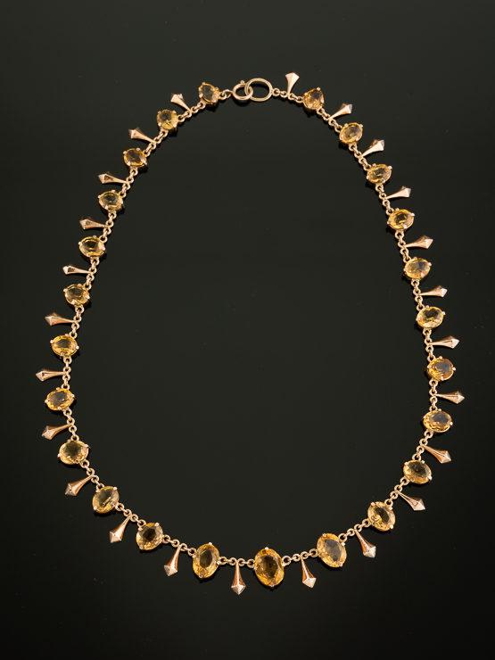 citrine fringe necklace