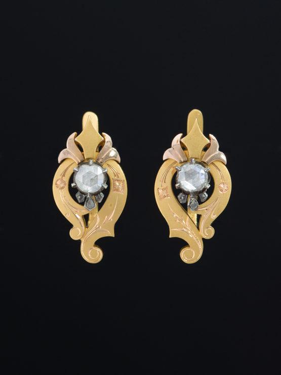 df20894aa GENUINE ANTIQUE VICTORIAN DRAMATIC DIAMOND EARRINGS | Antique Velvet ...