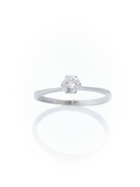 VINTAGE DIAMOND .24 Ct SOLITAIRE ENGAGEMENT RING