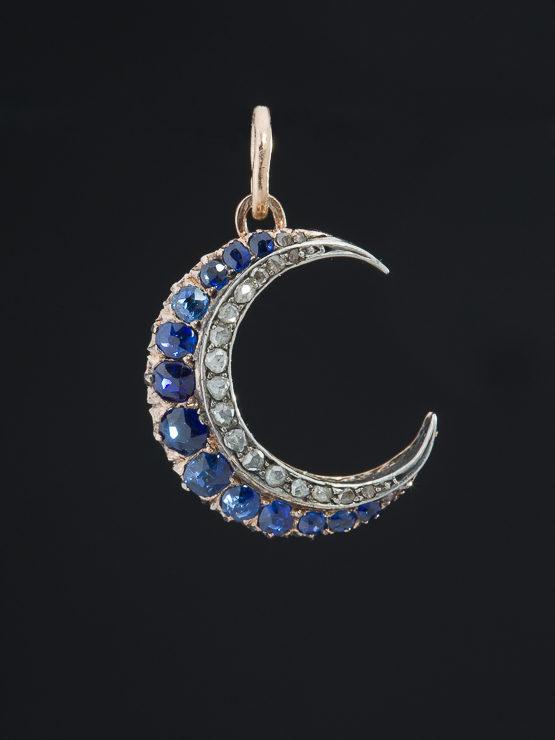 packet 10 Cast crescent moon pendant