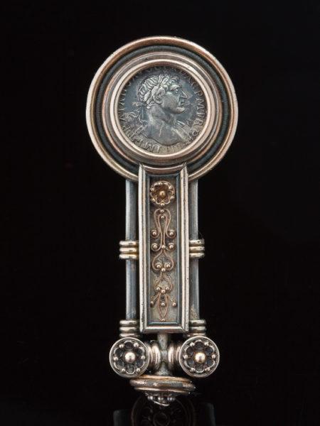 Antique Victorian Rare Grand Tour Roman Coin Brooch