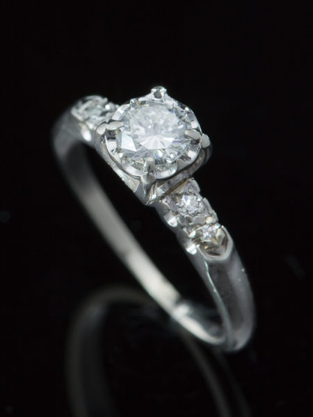 Out for exhibition | Vintage Diamond Solitaire Ring