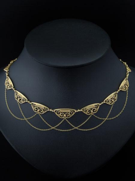 antique Genuine Victorian French Elegant Chain Necklace